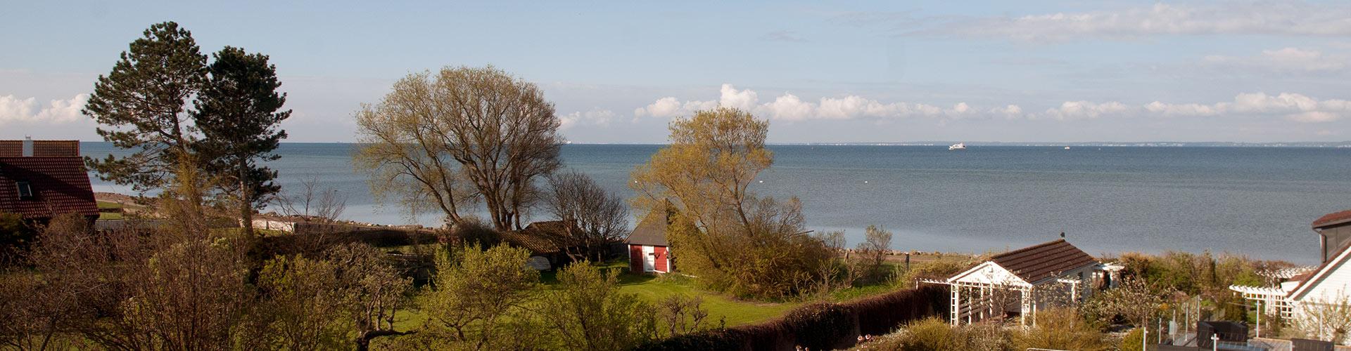 Panoramabild över Öresund