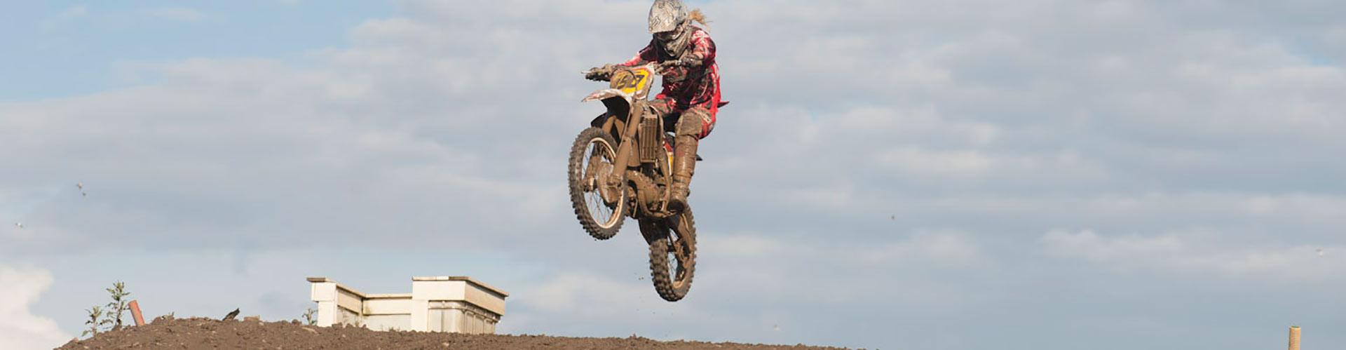 Panoramabild motorcross