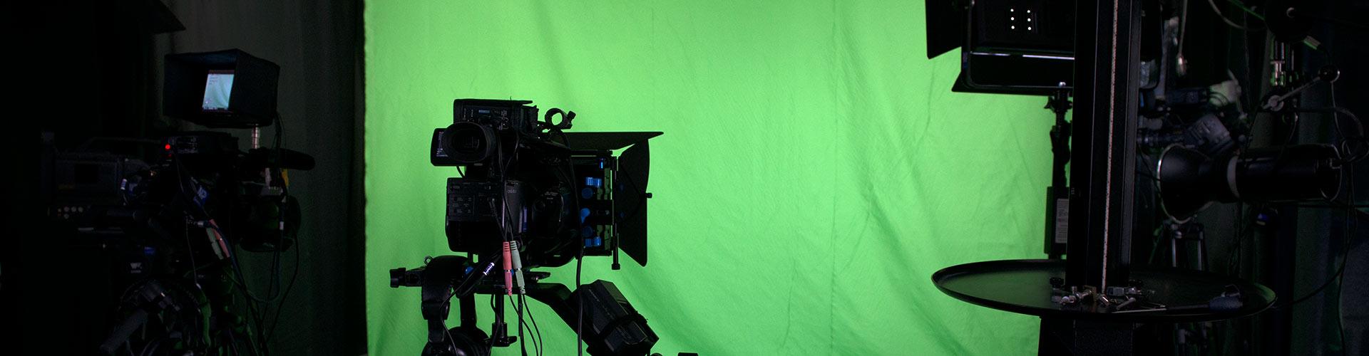 Filmstudio med green screen