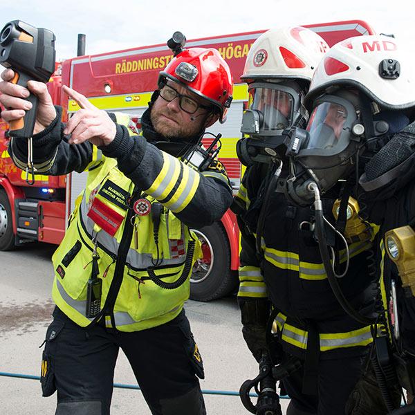 Räddningstjänst med värmekamera