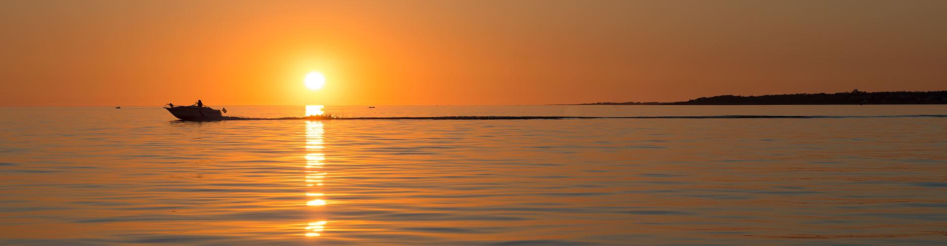 Solnedgång Skälderviken