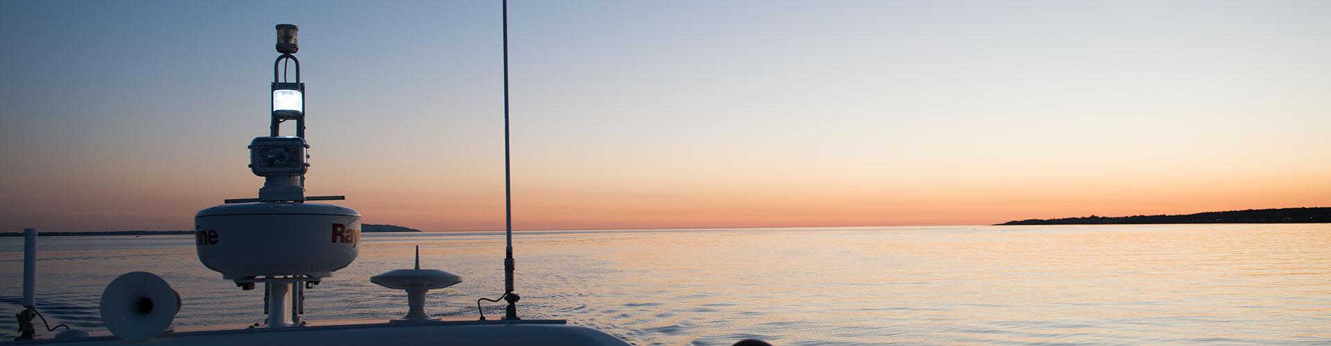 Panoramabild solnedgång