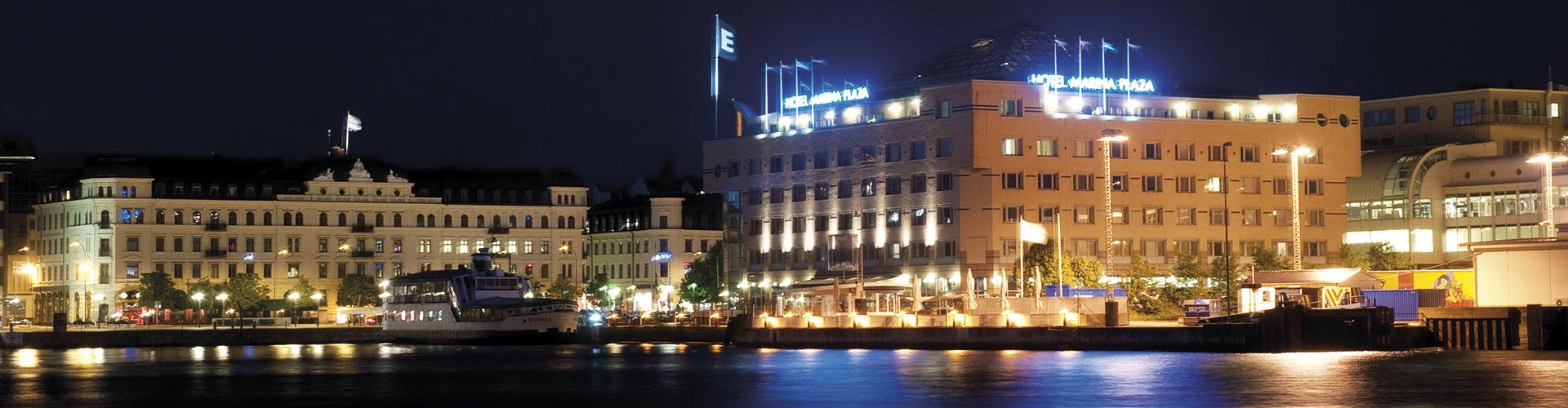 Kvällsbild över Helsingborg