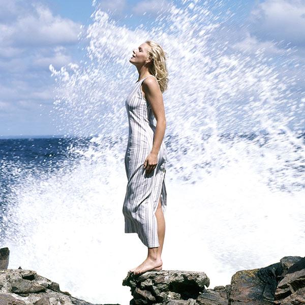 Modebild med vatten